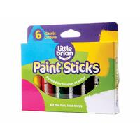 Little Brian - Paint Sticks - Classic Colours (6 pack)