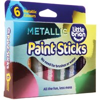 Little Brian - Paint Sticks - Metallic (6 pack)