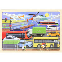 Masterkidz - Wooden Jigsaw Puzzle - Transport 20pc