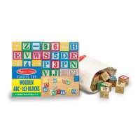 Melissa & Doug - Wooden ABC/123 Blocks