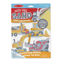 Melissa & Doug - Mess-Free Sand - Jumbo Foam Stickers - Construction