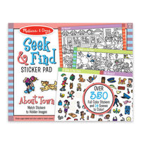 Melissa & Doug - Seek & Find Sticker Pad - Around Town