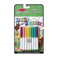 Melissa & Doug - On The Go - Magic Pattern Colouring Pad - Pets