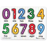Melissa & Doug - Numbers Peg Puzzle - 10pc