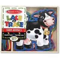 Melissa & Doug - Lace & Trace Farm Animals