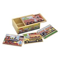 Melissa & Doug - Vehicles Jigsaw Puzzles In A Box 12pc