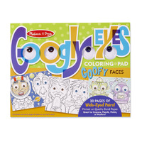 Melissa & Doug - Googly Eyes Colouring Pad - Goofy Faces