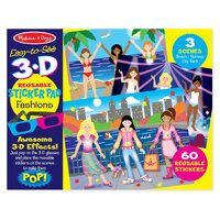 Melissa & Doug - Easy-to-See 3D - Reusable Sticker - Fashions