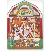 Melissa & Doug - Reusable Puffy Sticker Play Set - On the Farm