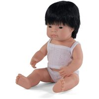 Miniland - Baby Doll Asian Boy 38cm