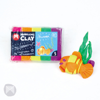 Micador - Modelling Clay Fluorescent (5 pack) 125g