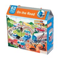 Mudpuppy - On the Road Puzzle 63pc