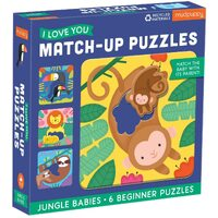 Mudpuppy - I Love U Match-Up Puzzles - Jungle Babies