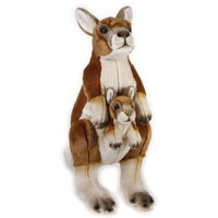National Geographic - Kangaroo and Joey Plush Toy 44cm