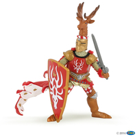 Papo - Red Knight Stag Figurine