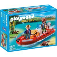 Playmobil - Inflatable Boat with Explorers 5559