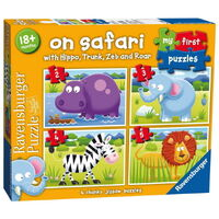 Ravensburger - My First Puzzles - On Safari (4 puzzles)