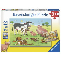 Ravensburger - Animal's Children Puzzle 2x12pc