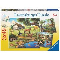 Ravensburger - Forest Zoo & Pets Puzzle 3x49pc