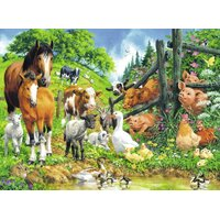 Ravensburger - Animal Get Together Puzzle 100pc