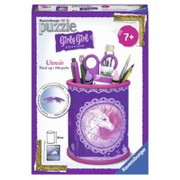 Ravensburger - Girly Girl Unicorn Utensil Holder 3D Puzzle 54pc