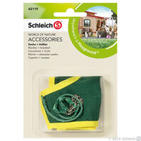 Schleich - Blanket + Headstall Green 42119