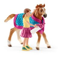 Schleich - Foal with Blanket 42361