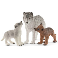 Schleich - Wolf Mother with Pups 42472