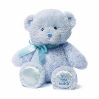 Gund - My First Teddy Blue 25cm