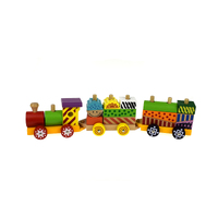 Kaper Kidz - Colourful Wooden Block Train