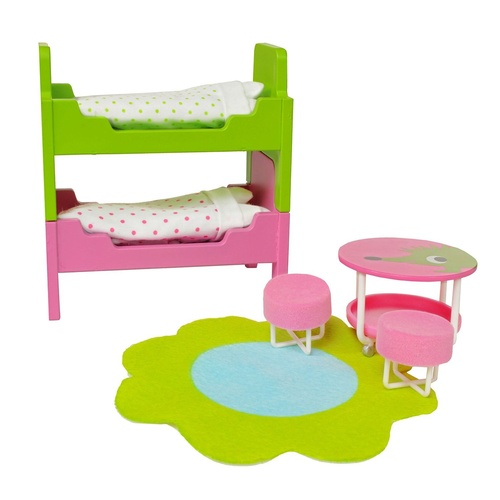 Lundby - Smaland Children's Bedroom Furniture Set