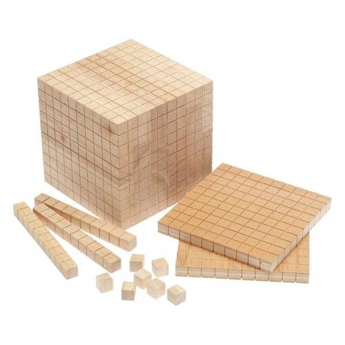 Learning Can Be Fun - Wooden Base Ten Set