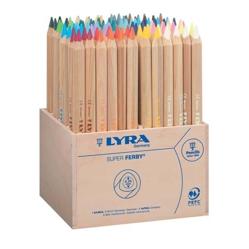 Lyra - Super Ferby Coloured Pencils in Wooden Box (96 pack)